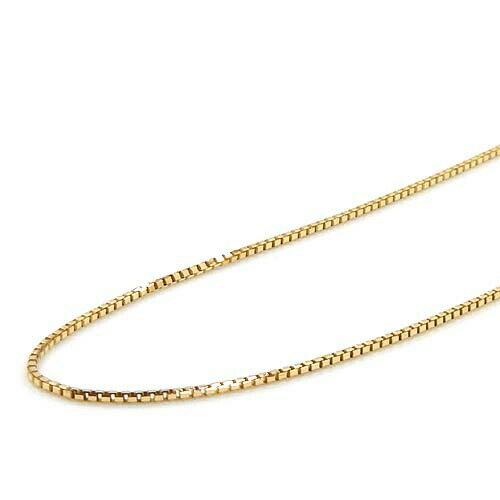 ベネチアン 0.6ミリ 42センチスライドピン ベネチェーン ネックレス(幅0.6mm・長さ42cm/長さ調整・抜き差し可能)18金ホワイトゴールド/18金ピンクゴールド/18金ゴールド3種類よりお選びいただけます。