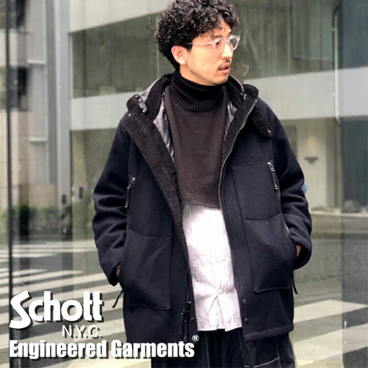 メンズファッション, コート・ジャケット ENGINEERED GARMENTSSchott( ) 701EG MELTON UTILITY HOODED COAT