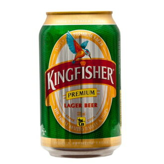 Kingfisher Premium Lager can 330 ml sake is 20-year-old from