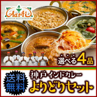 Kobe Artie hoheikyo set B selection eat Curry 2 (250 g) NaN (2 pieces) rice (200 g) India restaurant fresh Curry spices spice India food store!