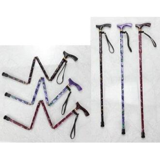 座標與多彩 ♪ 友好甘蔗 (甘蔗) 是在老齡化社會專案所需的 ! 5 級伸縮可調 78 88 釐米,長度根據高度。 手杖銀保健行走手杖無障礙折疊折疊