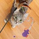 ○プラッツ GiGwi キティーティーザー フェザー&マウス「W」(ペット/ねこ/ネコ/ぬいぐるみ/猫用)