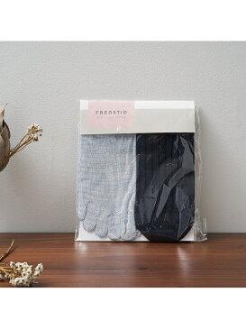 [Rakuten Fashion]【絹屋】2足重ね履き靴下 シルクと綿 collex コレックス ファッショングッズ タイツ/レギンス ネイビー グレー