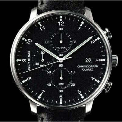 【送料:バンド調整:ラッピング無料】ISSEYMIYAKEイッセイミヤケCシィIchiroIwasaki岩崎一郎クオーツクロノグラフメンズ腕時計NYAD003