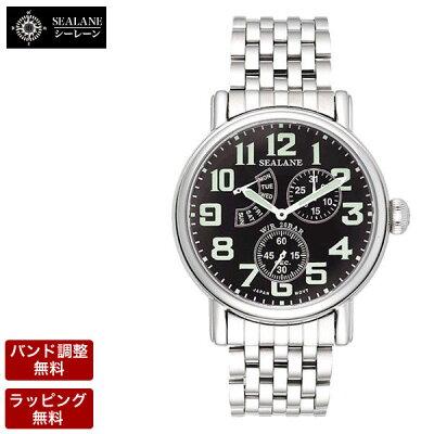 【バンド調整:ラッピング無料】SEALANE(シーレーン)腕時計メンズ腕時計SE14-MBK