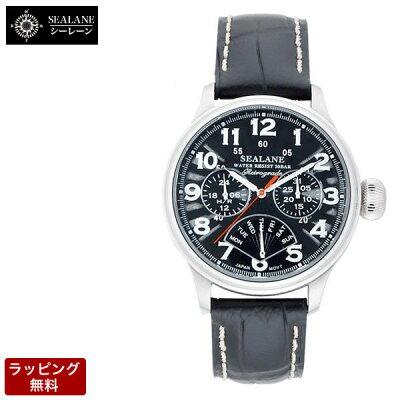 【バンド調整、ラッピング無料】SEALANE(シーレーン)腕時計メンズ腕時計SE31-LBK【_包装】【_包装選択】