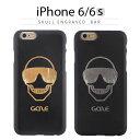 iPhone6s ケース GAZE Skull Engrav...