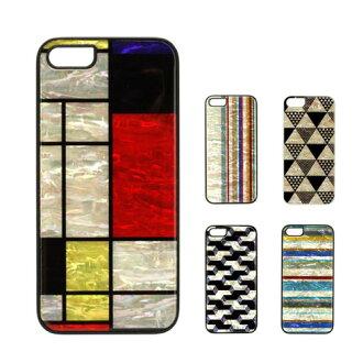 iPhone SE / 5 s/5 工程案例 ikins 天然珍珠 (情況 Aikins 天然珍珠)-鍵入天然貝殼鑲嵌珍珠硬殼