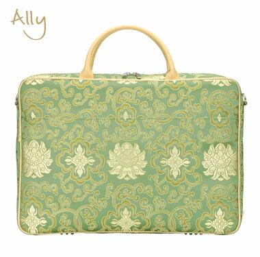 B2905G パソコンバッグ 女性用 アリー(Ally)-Silk風-Green再入荷しました!