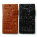 au softbankXperia Z3 ケース ZENUS Lettering Diary (レタリングダイアリー)Brown, Black ……