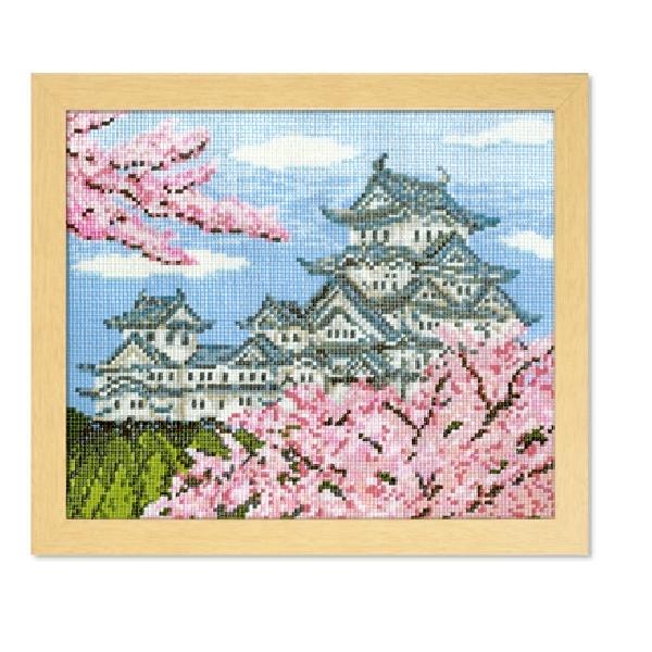 オリムパス 刺繍キット クロスステッチ 春の姫路城メール便/宅配便可  no-7414