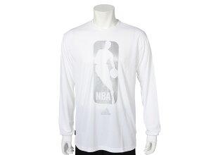【ADIDASウェア】 NBA Mirror Logo L/S プラクティスシャツ 長袖 Z03952 F12 WSP WHITE/METSIL...