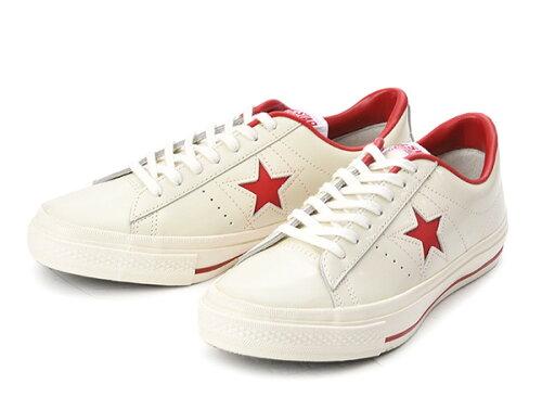 コンバース ONE STAR(A) OX ワンスター オックス ABC-MART限定 WHITE/RED