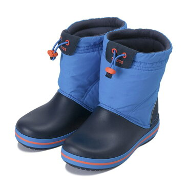【crocs】 クロックス crocband lodgepoint boot kids クロックスバンド ロッジポイント ブーツ キッズ 203509-4A5 Ocean/Navy