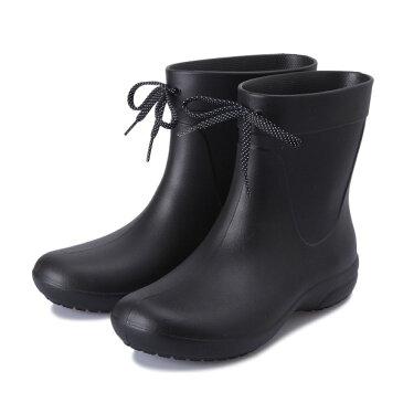 レディース 【crocs】 クロックス crocsfreesailshortyrainbootw クロックスフリーセイルショータリーレインブーツ 203851-001 black