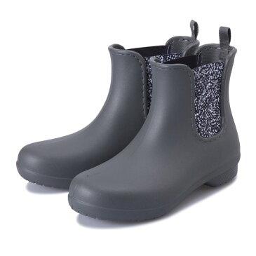 レディース 【crocs】 クロックス crocs freesail chelsea boot w クロックス フリーセイル チェルシー ブーツ 204630-0EY slate grey/dots