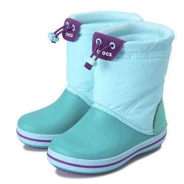 キッズ 【crocs】 クロックス crocband lodgepoint boot kids クロックスバンド ロッジポイント ブーツ キッズ 203509-08G 18FA ice bl/tropical