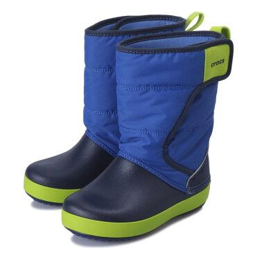 キッズ 【crocs】 クロックス lodgepoint snow boot kids ロッジポイント スノーブーツ キッズ 204660-4HD 18FA blue jean/navy