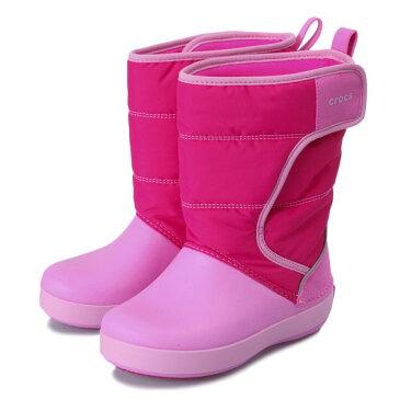 キッズ 【crocs】 クロックス lodgepoint snow boot kids ロッジポイント スノーブーツ キッズ 204660-6LR 18FA cdk/party pink