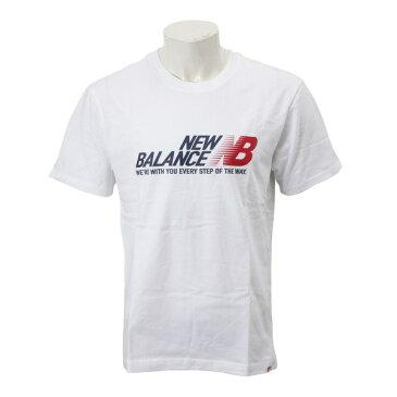 【New Balanceウェア】 ニューバランスウェア M ESSステップT AMT91590WT WT(ホワイト)