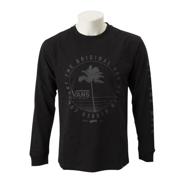 トップス, Tシャツ・カットソー VANSVans PalmTree LS Tee T CD19SS-MT12 BLACK
