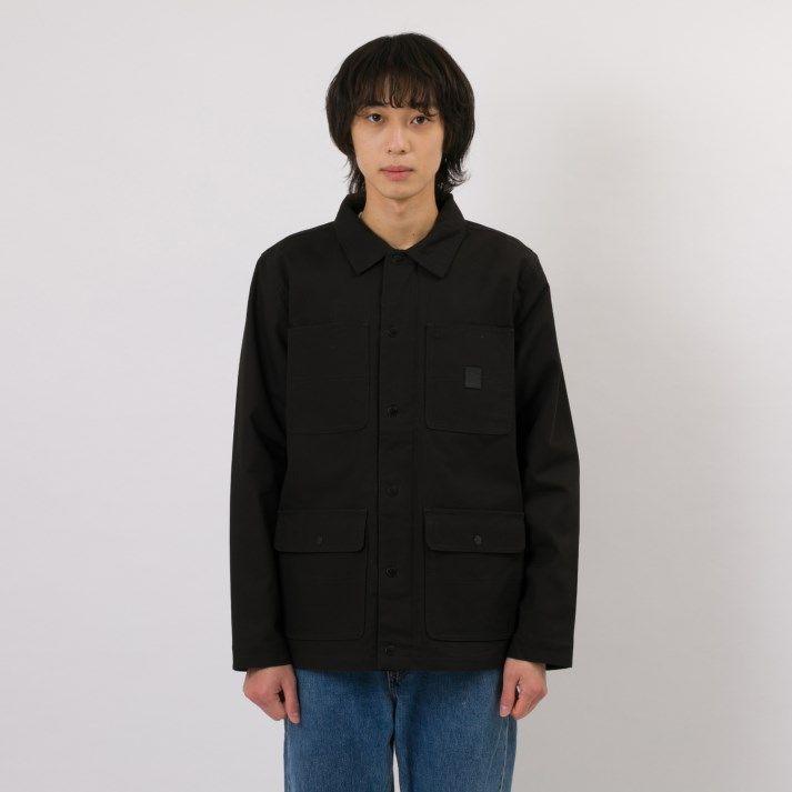メンズファッション, コート・ジャケット VANSDRILL CHORE COAT LINED VN0A456ZYJT BLACK (RZRIPST