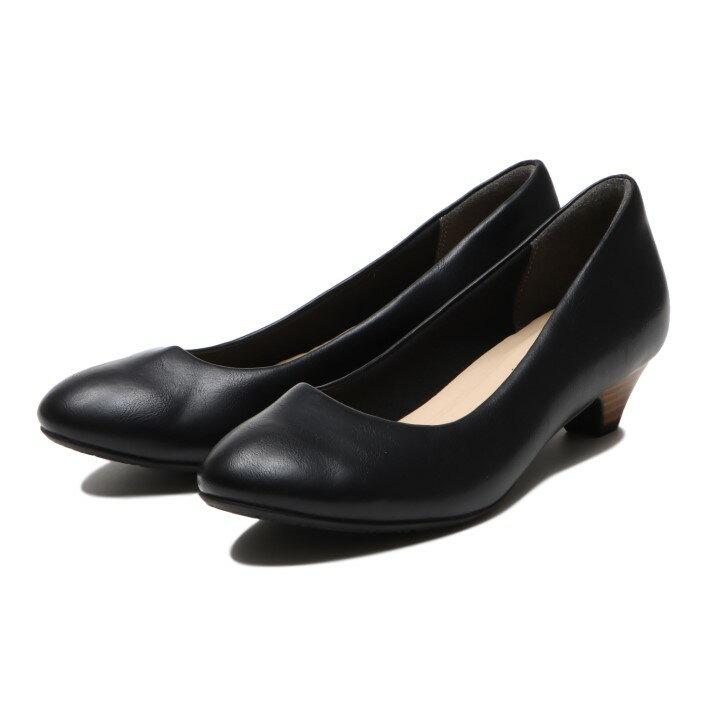 レディース靴, パンプス  NUOVO FL ROUND LH 3 3cm NE30236 BLACK