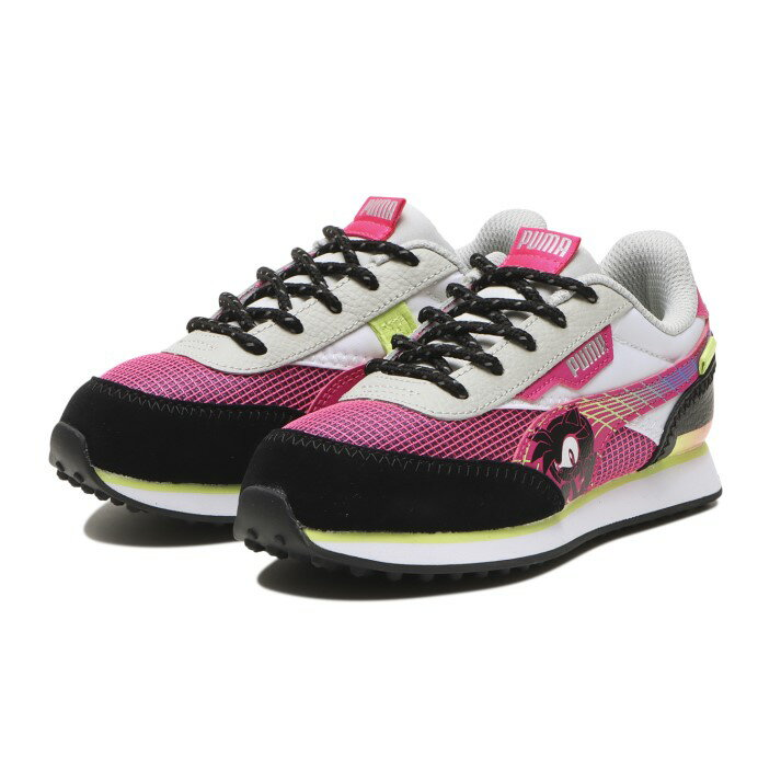 靴, スニーカー  PUMA SEGA FUTURE RIDER PS (17-20) 373211 02G.PINKBK