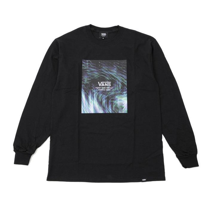 ユニセックスウェア, Tシャツ・カットソー VANS Moving Ray FLV LS T-Shirt VA20SS-MT36 BLACK