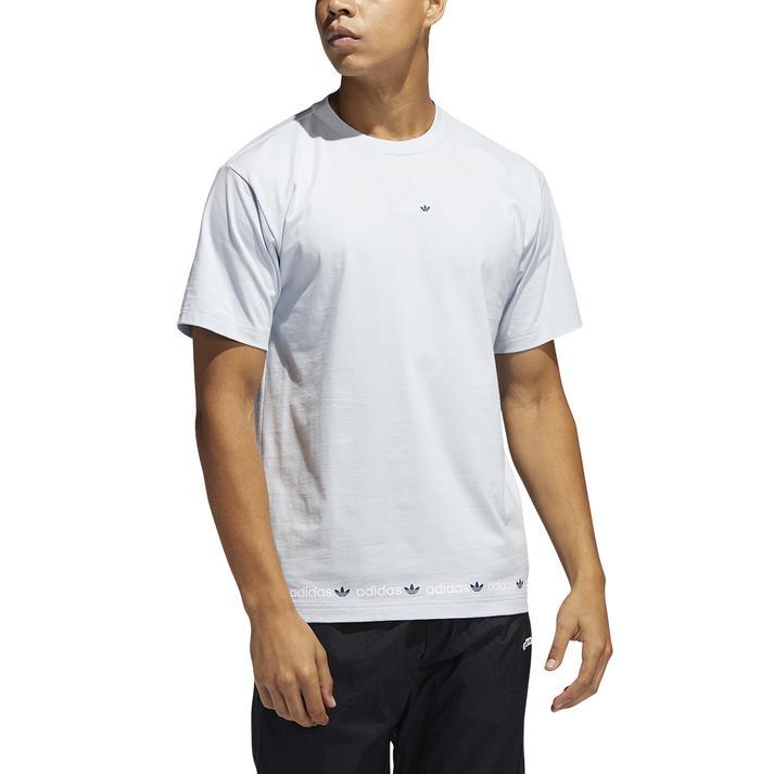 トップス, Tシャツ・カットソー ADIDAS M LINEAR REPEAT TEE T GN7127 HBLUCNAV