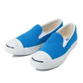 【CONVERSE】 コンバース JACK PURCELL SLIP-ON SUEDE ジャックパーセル スリップオン スエード 32252696 BLUE