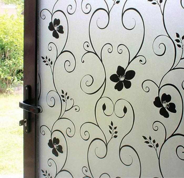 貼るだけで模様ガラス 模様入りガラス ステンドグラス 磨りガラス ステンド ガラス 擦りガラス スリガラス 窓断熱シートDUOFIRE めかくしシート 窓ガラス 目隠しシート 窓用フィルム 窓ガラスフィルム はがせる 断熱 遮光 (0.9M X 2M)DP014B