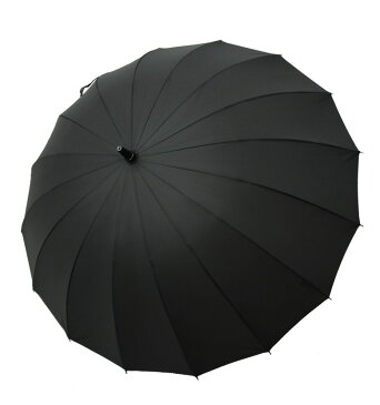 サイベナ Saiveina 長傘 ブラック ジャンプ傘 自動開け レディース メンズ 紳士 婦人 撥水加工 耐風 おしゃれ 大きい ブランド 16本骨 グラスファイバー