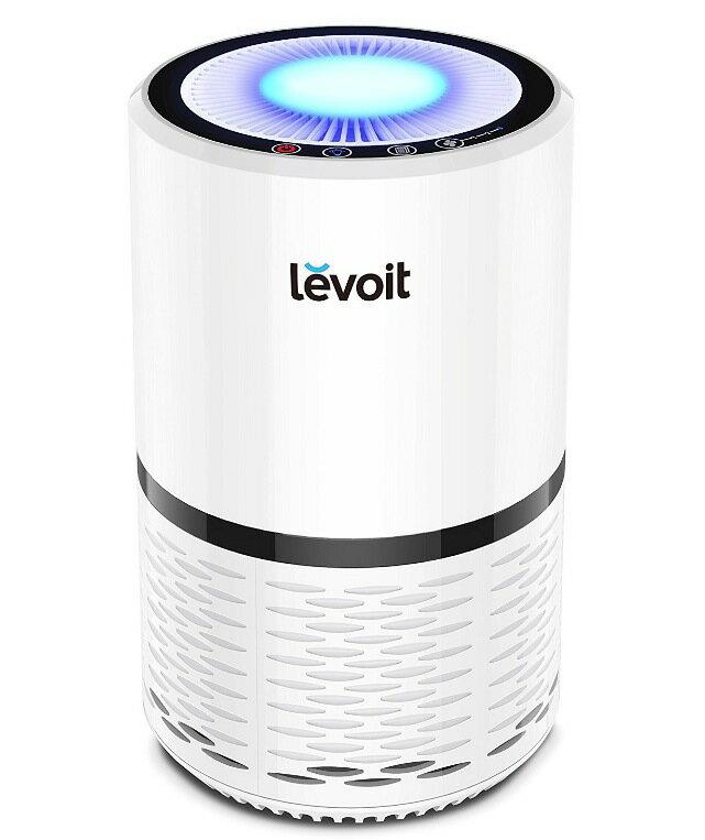 Levoit 空気清浄機 小型 花粉・アレル物質対策 PM2.5対応 省エネ 風量切替 脱臭 夜間ライト付き 高性能HEPAフィルター搭載 ヘパフィルター搭載 LV-H132(ホワイト)