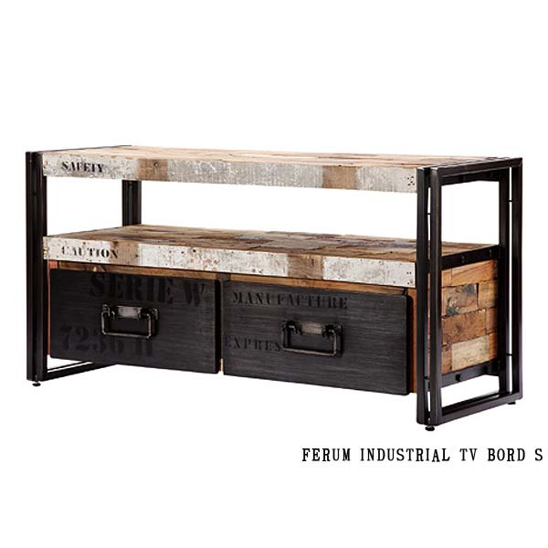 110769 tv s 112cm industrial tv board s d bodhi ferum. Black Bedroom Furniture Sets. Home Design Ideas