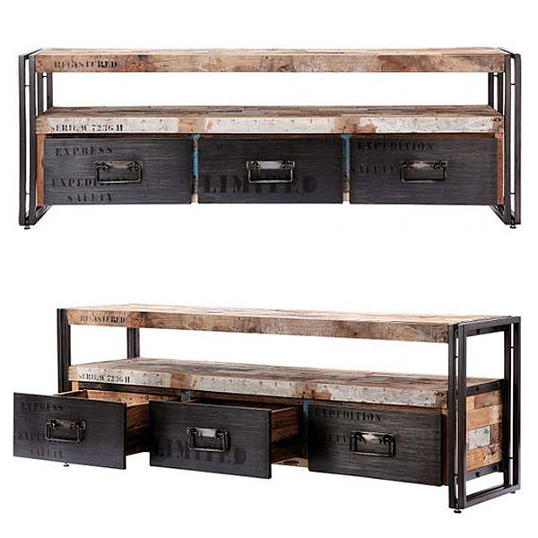 110776 tv l 160cm industrial tv board l d bodhi ferum. Black Bedroom Furniture Sets. Home Design Ideas