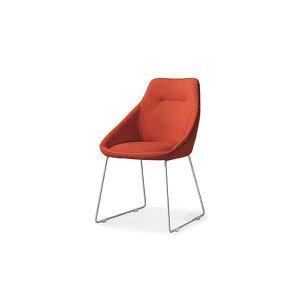 F253ORGYダイニングチェアーLily食堂イスいす椅子布張りファブリックシンプルモダンタイプ洋風北欧風かわいい清美堂WESTPOINT【送料無料】