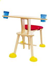 【送料無料】ヒロ・コーポレーションclexoクレッソテーブルにイスが一体化