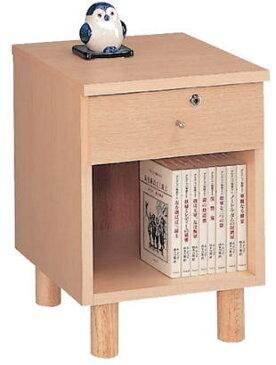 【送料無料】 ナイトテーブル35A 引出1 幅35cm (ライト ナチュラル)(yoshikei7-30-7)