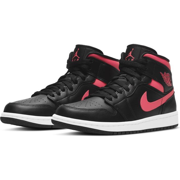 レディース靴, スニーカー JORDAN BRAND W AIR JORDAN 1 MID 1 MID WBQ6472 004BLKSIRNRD