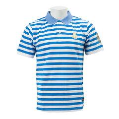 【SOCCER JUNKY】 サッカージャンキー 2015 横浜FC 移動用 ポロシャツ YSJ15026 WSP BLU/WHT ...