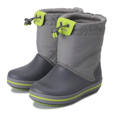 キッズ 【crocs】 クロックス crocband lodgepoint boot kids クロックスバンド ロッジポイント ブーツ キッズ 203509-08G 18FA smoke/graphite
