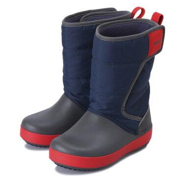 キッズ 【crocs】 クロックス lodgepoint snow boot kids ロッジポイント スノーブーツ キッズ 204660-4HE 18FA navy/slate grey