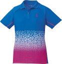 取寄せ品 【ゴーセン】 レディースゲームシャツ (T1703) 15 ロイヤルブルー S