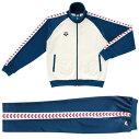 【アリーナ】トレーニングジャケット&パンツ(ASP-5107A,ASP-5108PA)WNVホワイト×ネイビーホワイト・レッド