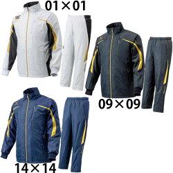 【ミズノ】ウィンドブレーカーシャツ&パンツブレスサーモ/MIZUNO/トレーニングウェア/野球ウェア(12JE4W8312JF4W53)