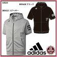 【アディダス】 半袖フードフルジップスウェット adidas/野球 ウェア/スポーツウェア/BASE BALL/adidas (DJG55)