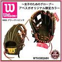 【ウィルソン】WilsonBearアベスポーツオリジナルグローブソフトボールグローブ内野手用/右投げ用/一般用/2017年/限定カラー/数量限定Wilson(WTASBQ68H)90SSブラック×ピンク