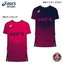 ネコポス選択可【アシックス】グラフィックショートスリーブトップ Tシャツ/半袖/スポーツウェア/asics (2033A001)