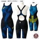 【アシックス】W'SスパッツSWIMMINGTOPIMPACTLINE布帛レディース競泳水着(2162A060)400アシックスブルー